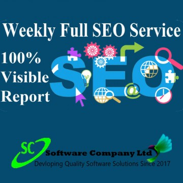 I will do weekly full SEO...