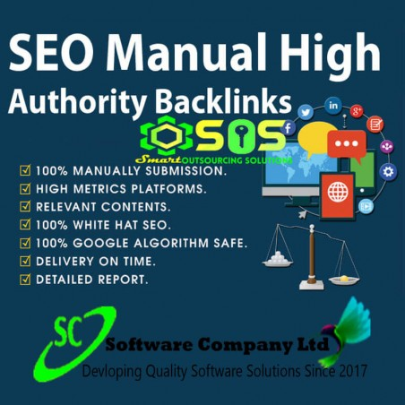I will do google SEO manual high authority backlinks
