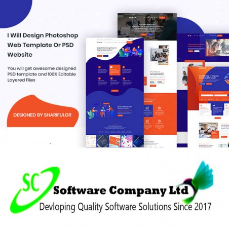 I will design photoshop web template or PSD website