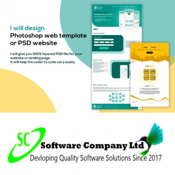 design photoshop web template or psd website