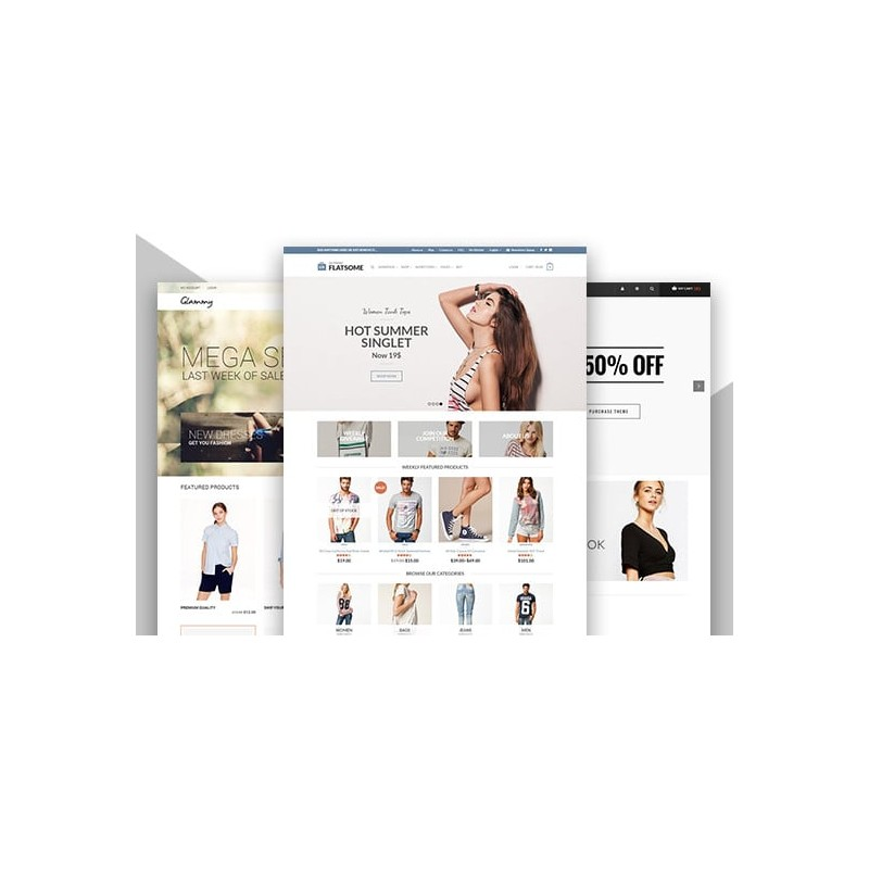 create an ecommerce website, online store