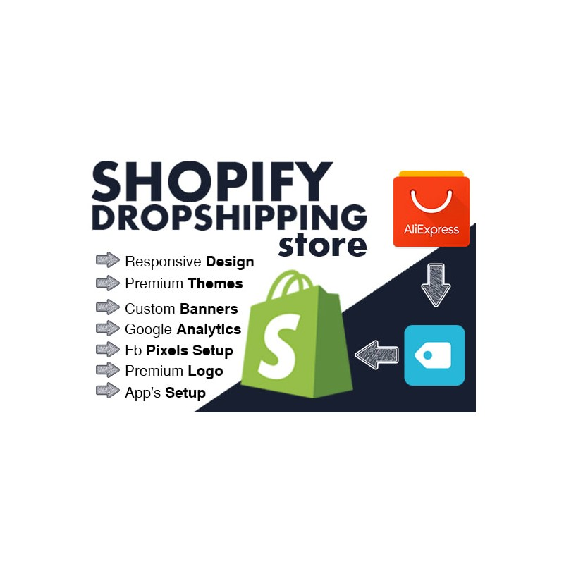 automated shopify aliexpress dropshipping store asist with shopify store